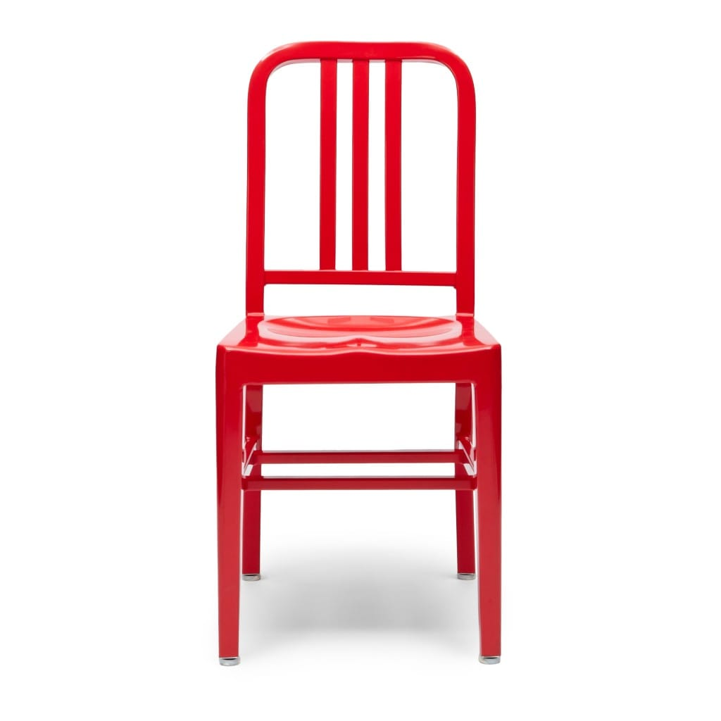 AluminiumNavyChair_Red_front
