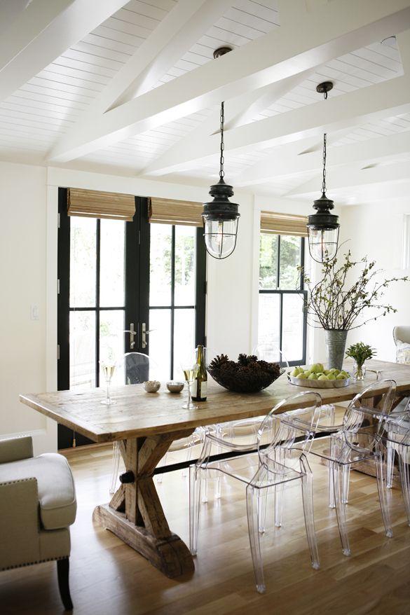 Ghost Chairs in Modern Farmhouse Washington