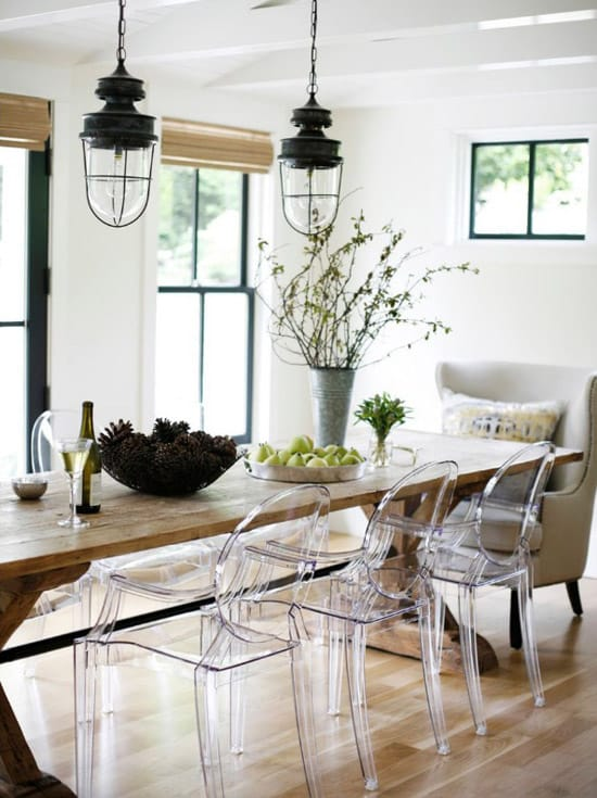 White Washed Kitchen Table