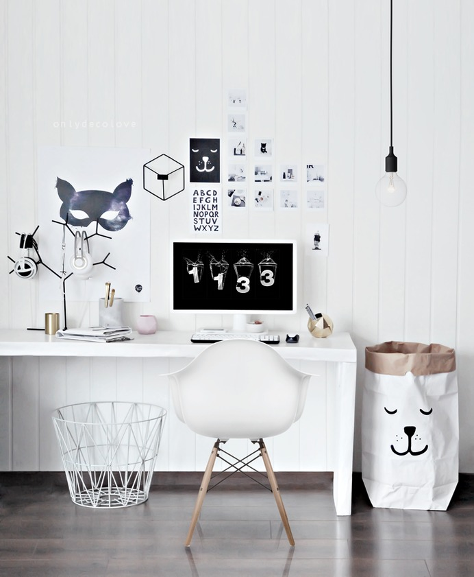 Unclutter In Style: Office Space: Scandinavian MonotoneCult Furniture Blog