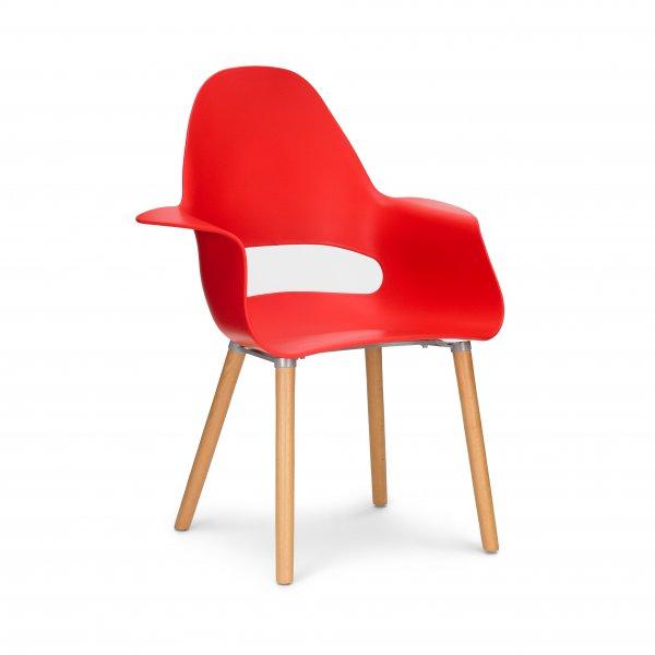 Designed red organic chair for Plastikstuhl design