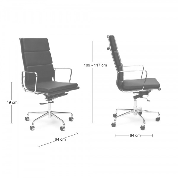 Eames Style White Soft Pad Office Chair Executive Chairs Cult UK