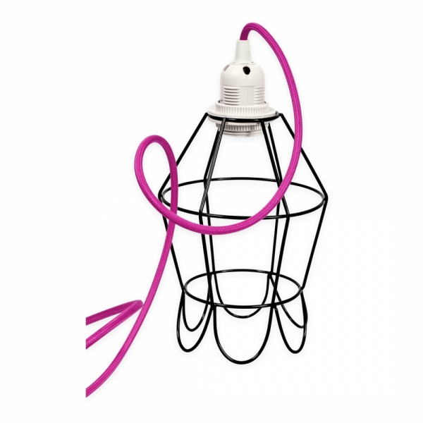 Edison Tulip Cage Lamp In Black With Colour Flex Cult