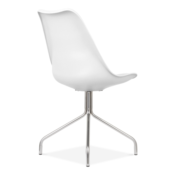 White Dining Chairs With Cross Metal Legs Modern Chairs