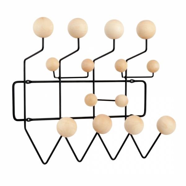 black eames hang it all with natural balls coat hangers cult uk. Black Bedroom Furniture Sets. Home Design Ideas