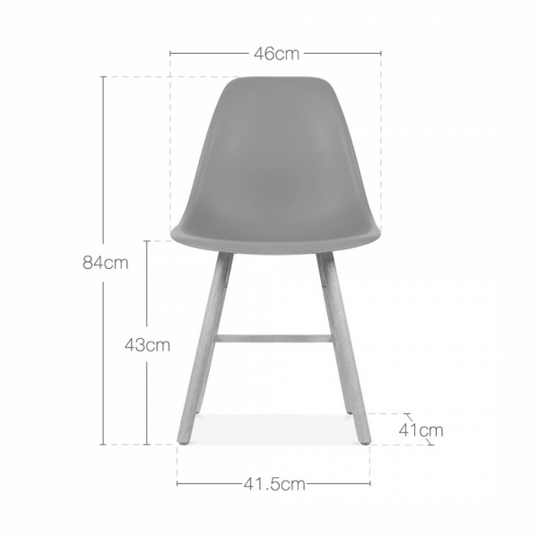 White dsw eames inspired side chair with windsor style for Chaise eames bleu canard