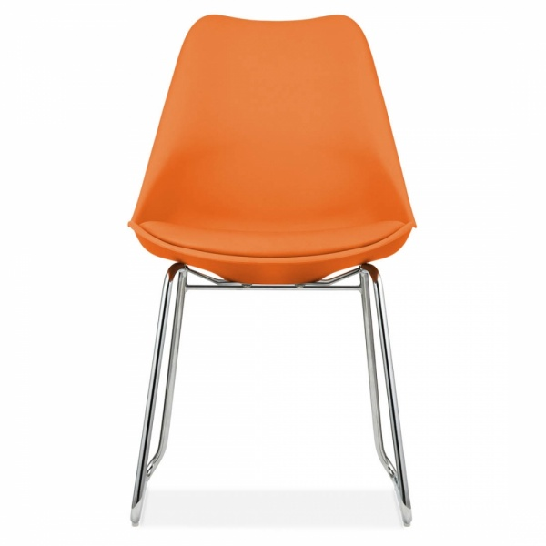 Orange Kitchen Table And Chairs: Orange Dining Chair With Soft Pad Seat