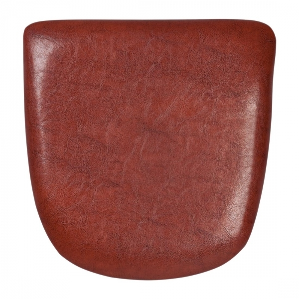 Leather seat pads for tolix style chairs cult furniture for Coussin rond pour chaise