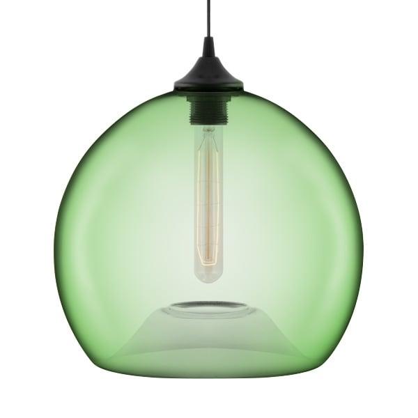 Industrial Pendant Light Green: Edison Industrial Globe Green Modern Pendant Light