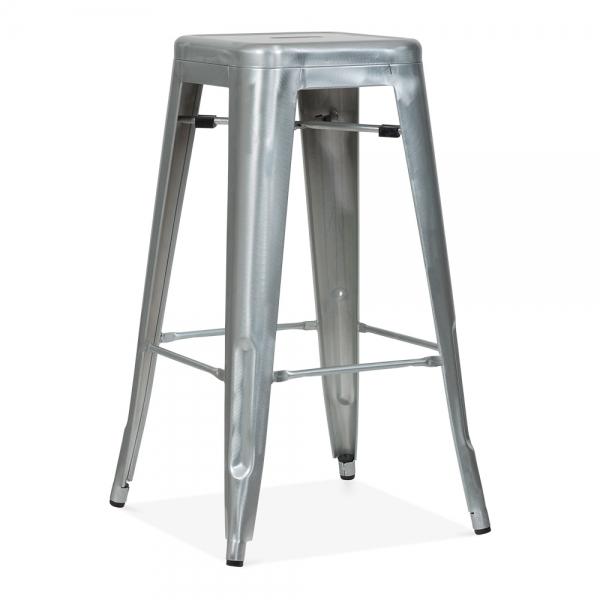 Galvanized metal 75cm tolix style industrial stool cult uk for Barhocker xavier pauchard