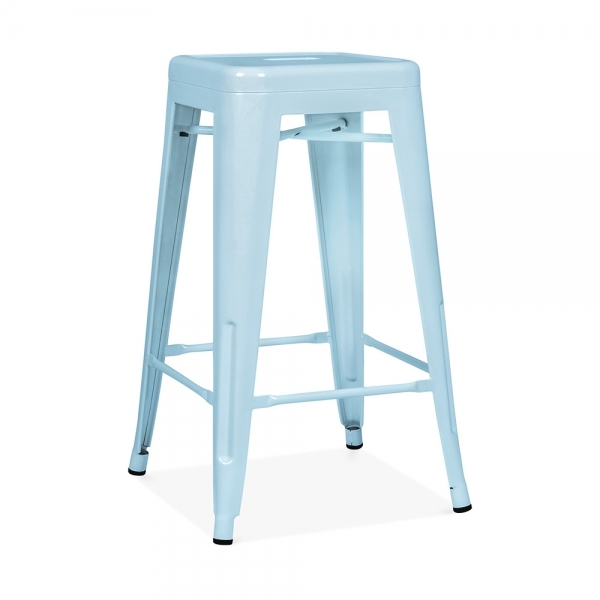 pastel blue 65cm powder coated stool cult uk. Black Bedroom Furniture Sets. Home Design Ideas