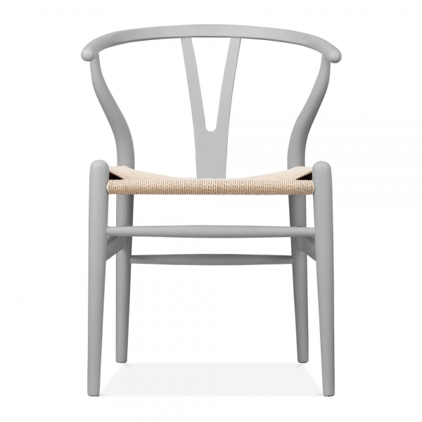hans wegner style wishbone chair in grey wood chairs cult uk. Black Bedroom Furniture Sets. Home Design Ideas