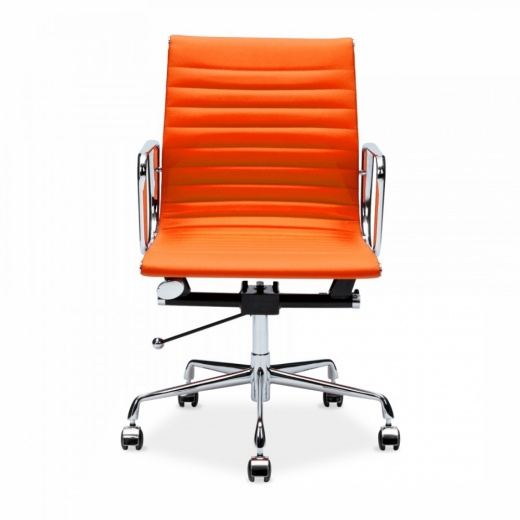 Orange Eames Style Short Back Executive Office Chair