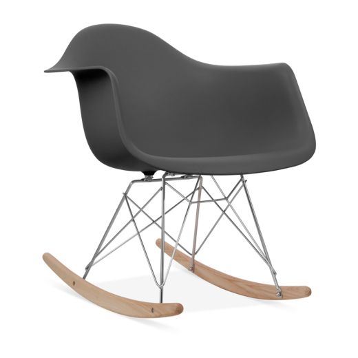 dark grey eames style rar rocker chair rocking chairs cult uk