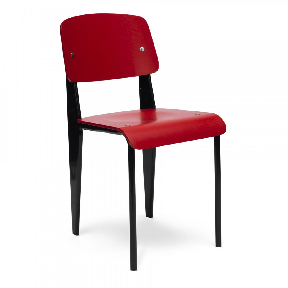 Style Black Standard Chair With Red Seat Cult Uk