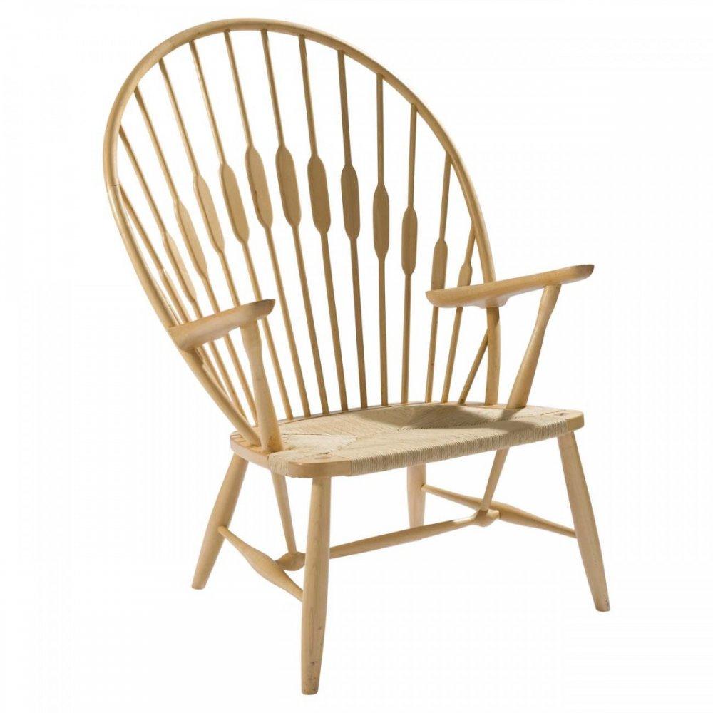 Natural Ash Wood Peacock Chair
