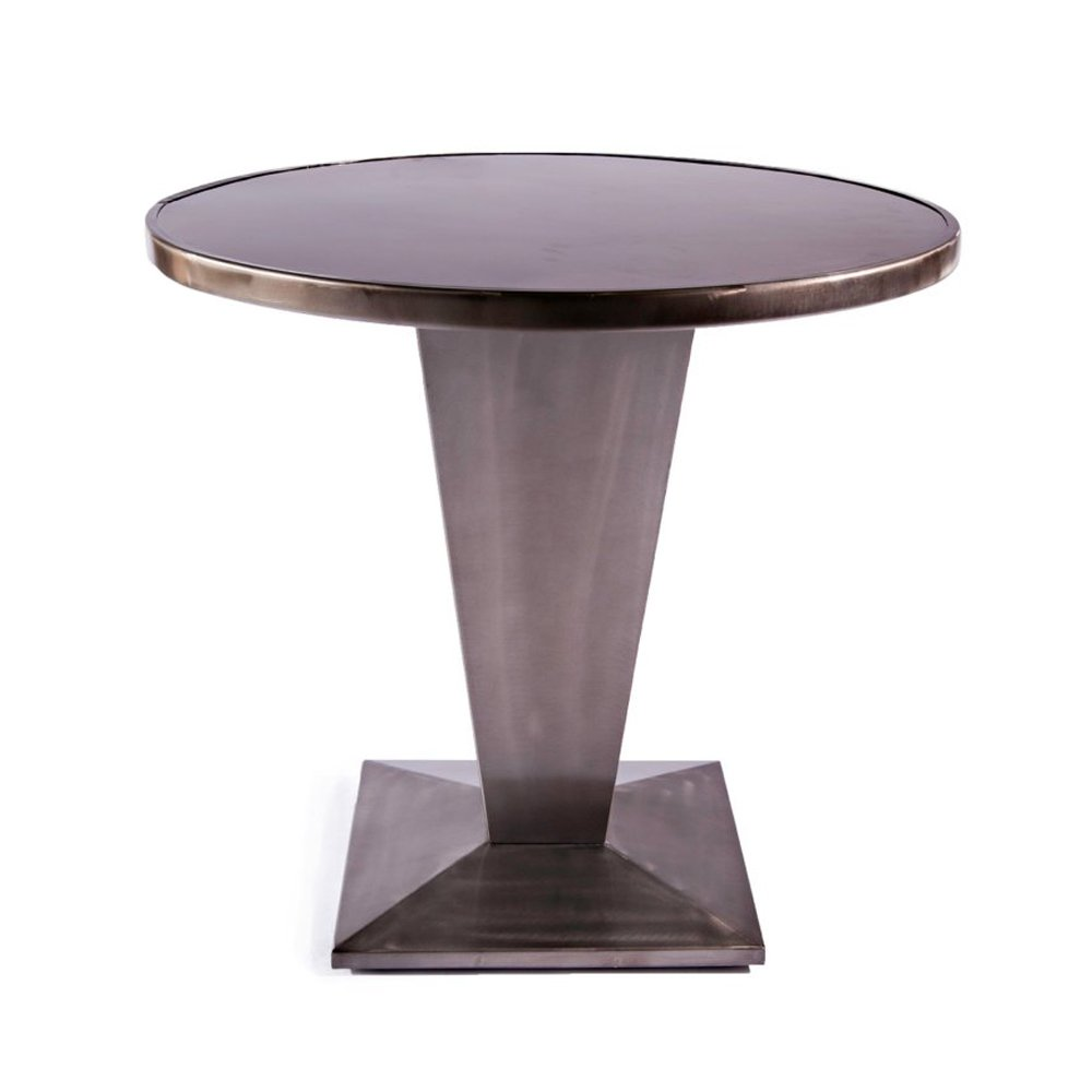 Tolix style gun metal table cult uk for Table exterieur design aluminium