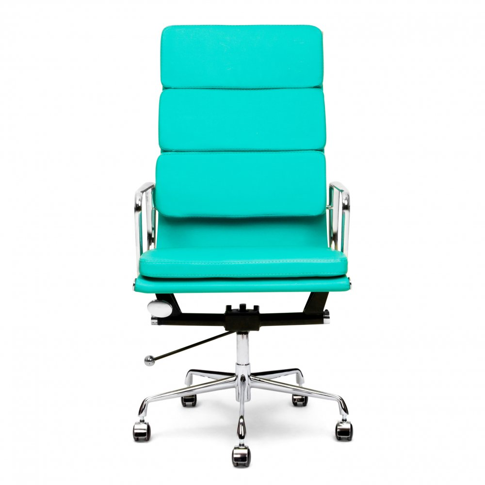 Iconic Designs Turquoise Soft Pad Executive Office Chair