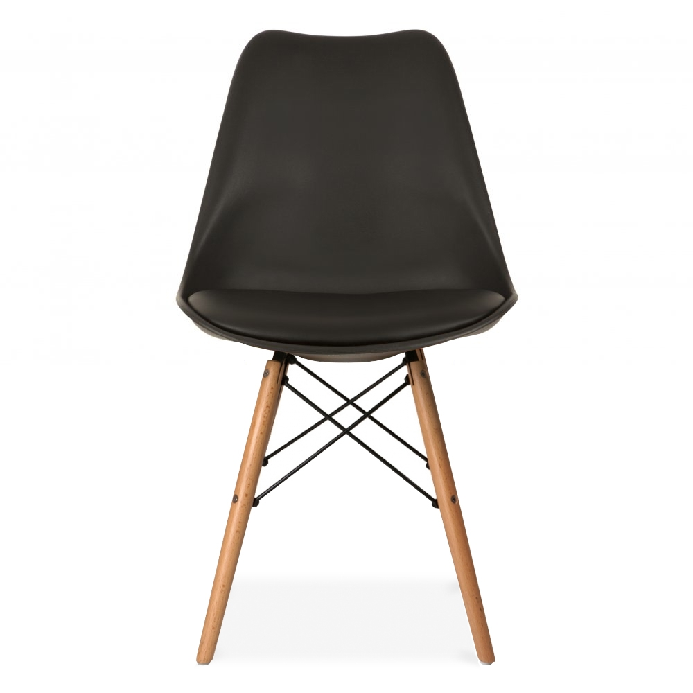 designs style black dining chair with dsw style natural wooden legs