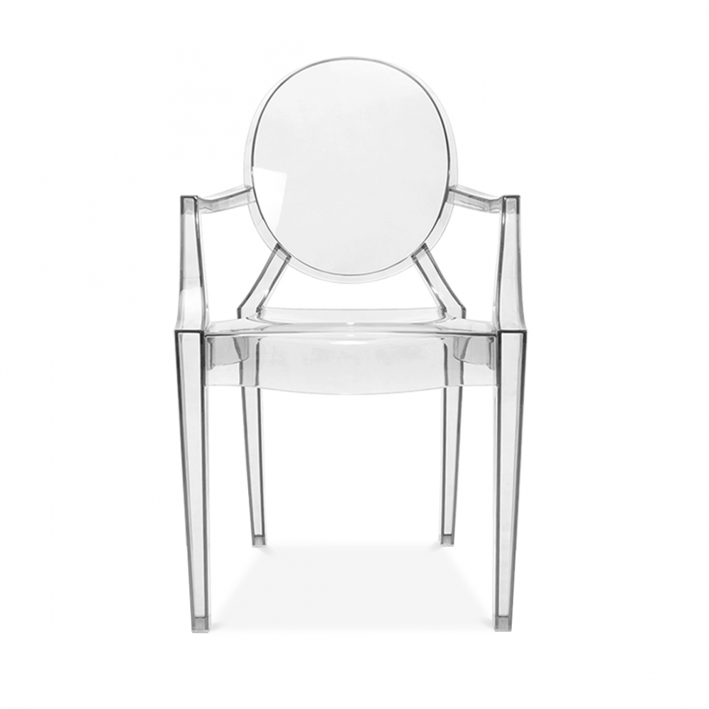 Clear ghost style louis armchair modern armchairs cult uk for Chaise ghost starck