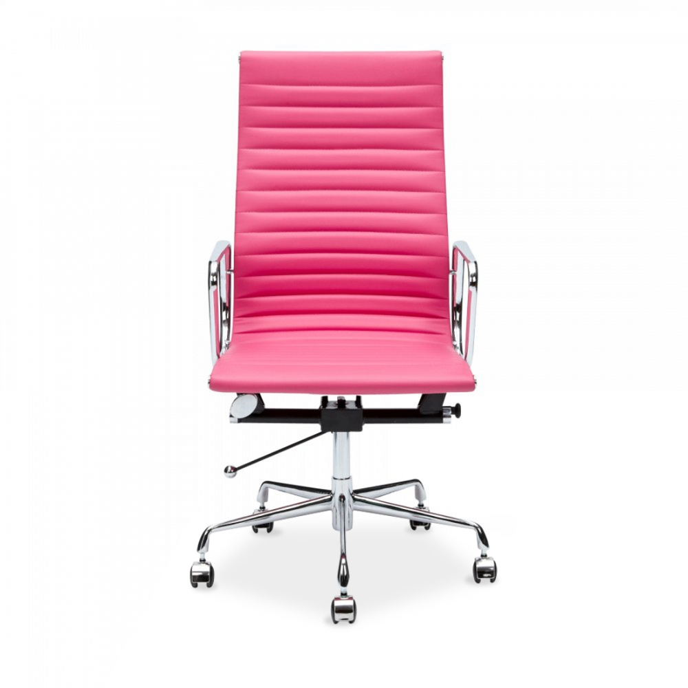 Pink Ribbed Style Office Chair