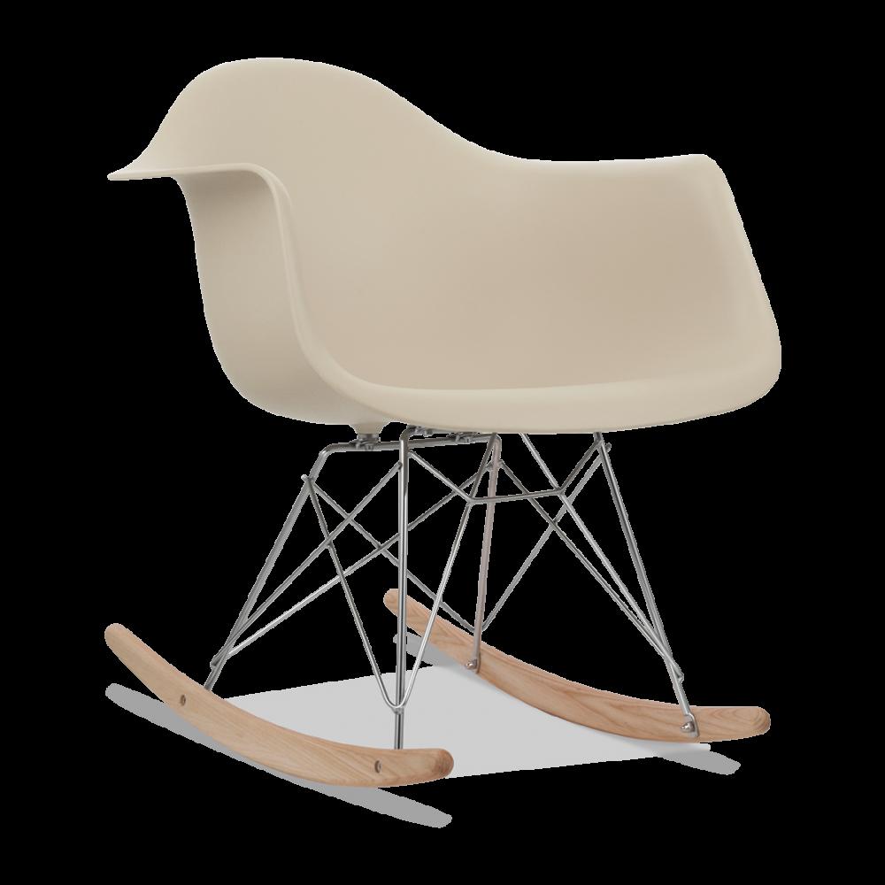 eames style rar beige rocking chair wooden rockers cult uk. Black Bedroom Furniture Sets. Home Design Ideas