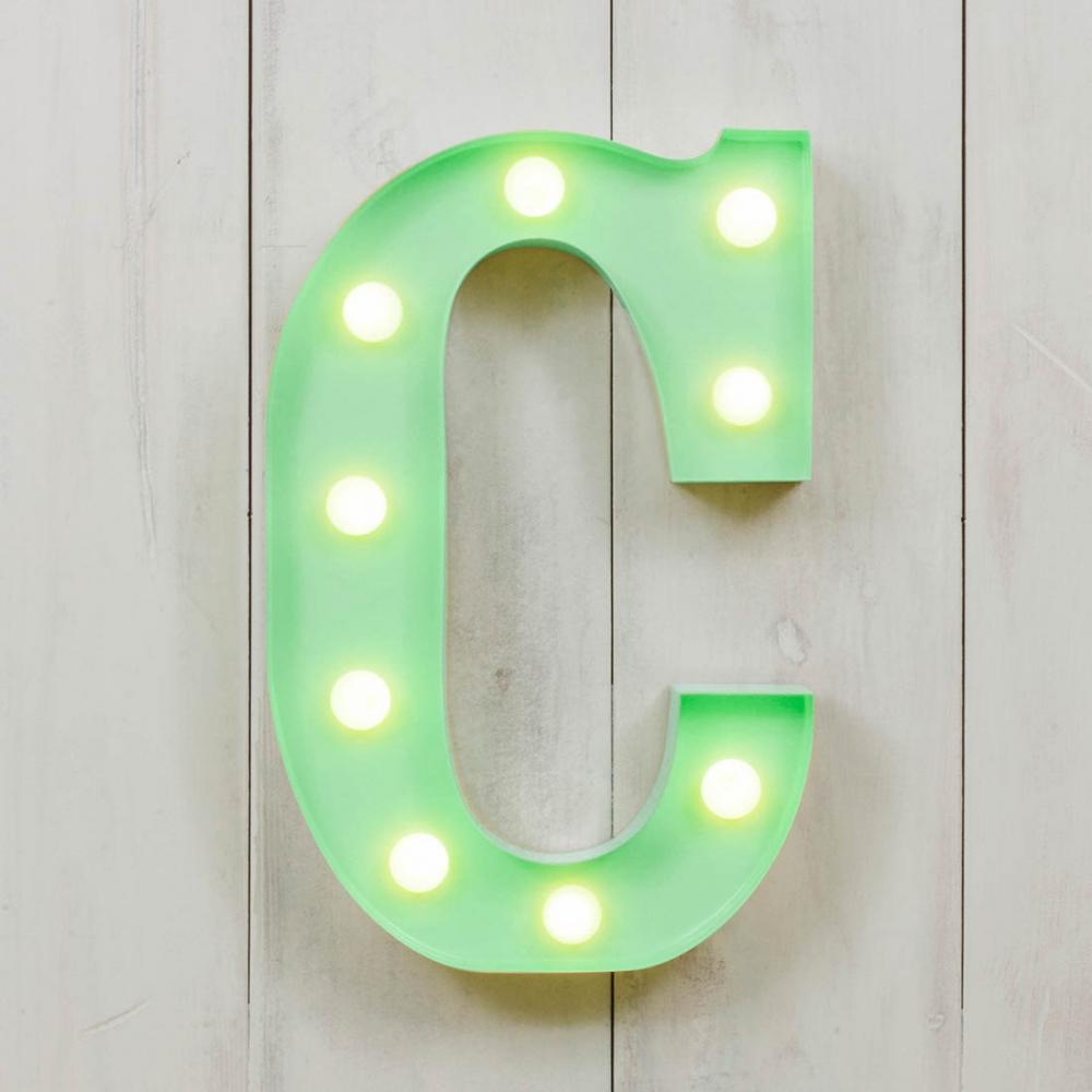 C Vegas Metal 11 Mini LED Letter Lights Alphabet