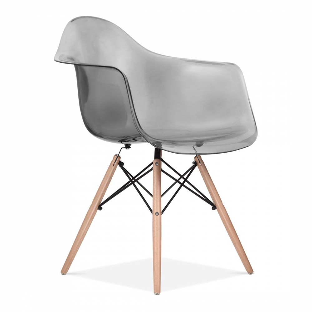 Black eames style daw chair side cafe chairs cult uk for Design stuhl durchsichtig