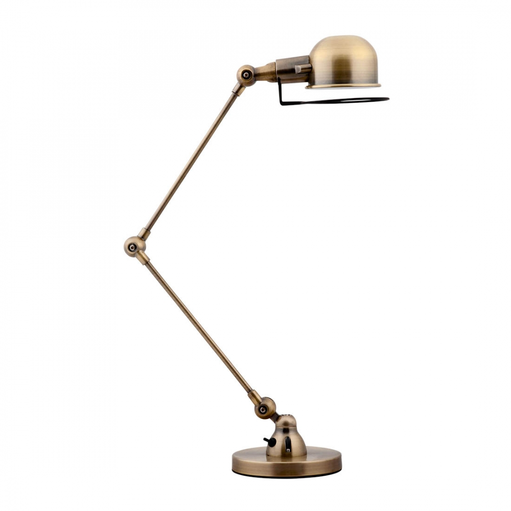 jielde style ancient gold desk lamp industrial lights cult uk. Black Bedroom Furniture Sets. Home Design Ideas