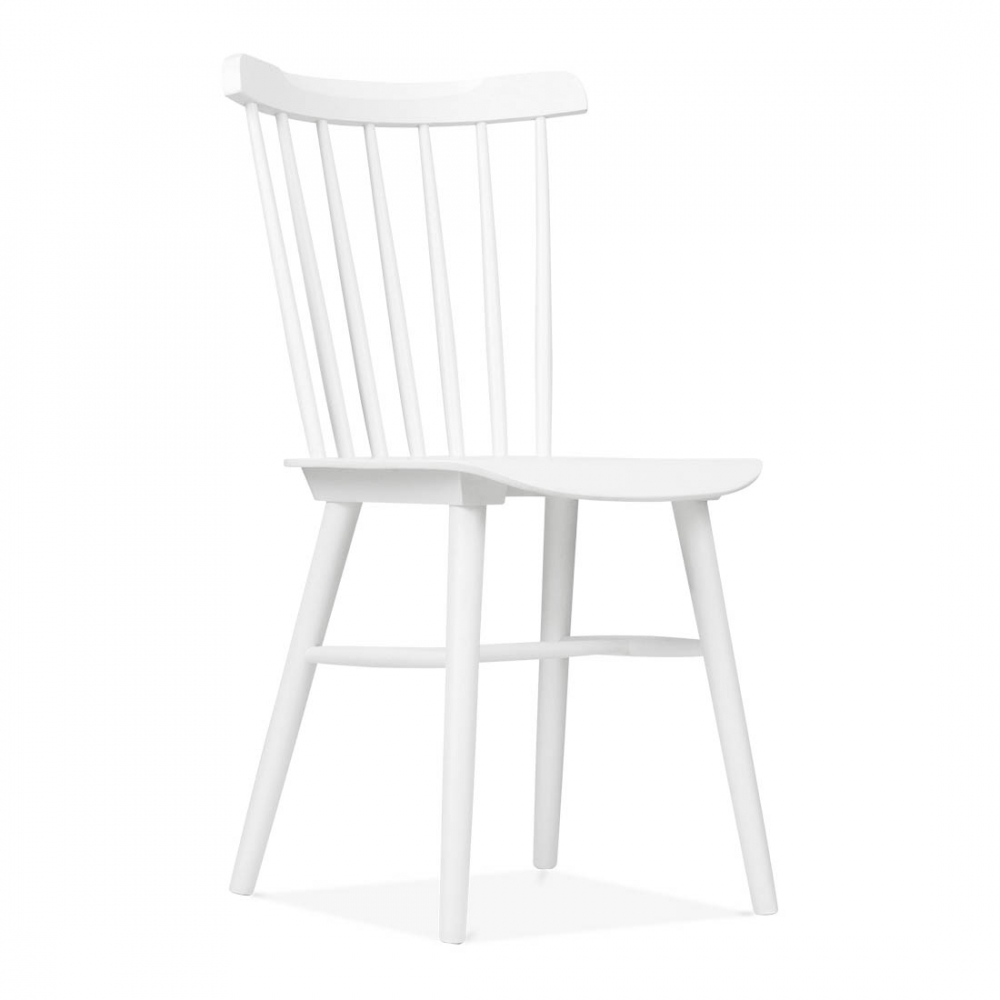 Windsor Wooden Chair In White By Cult Living Dining Chairs UK