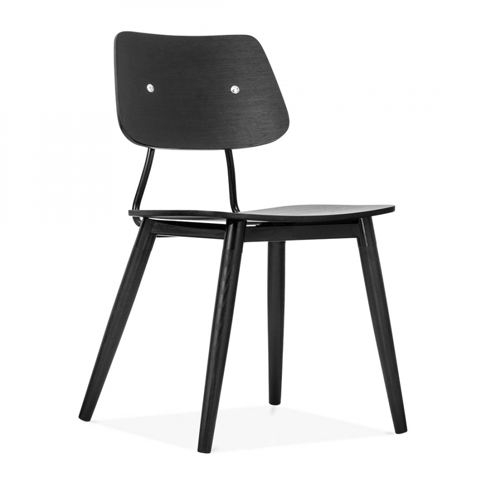 Cult living black wooden oslo chair modern dining chairs for Chaise oslo but