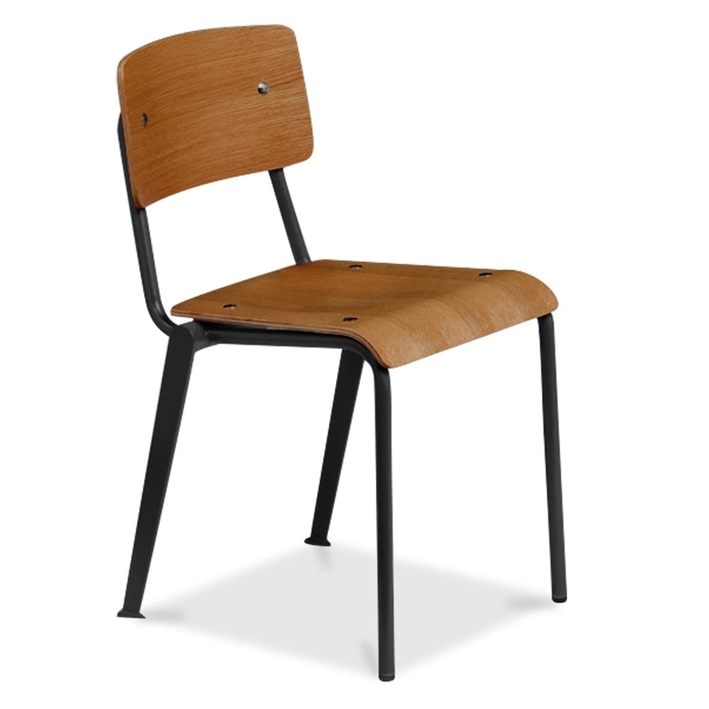 Cult living french school chair in black with wood option cult uk - Chairs design ...