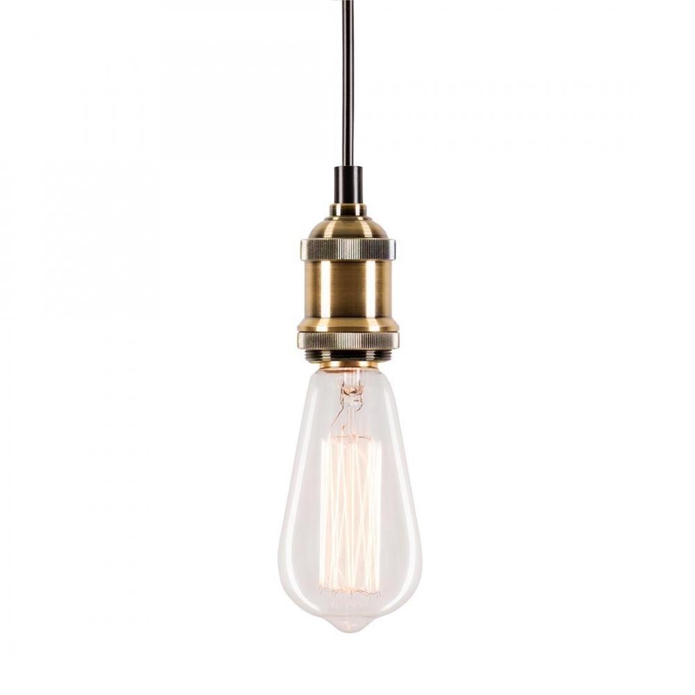 antique bulb holder with ceiling rose bronze lighting cult uk. Black Bedroom Furniture Sets. Home Design Ideas
