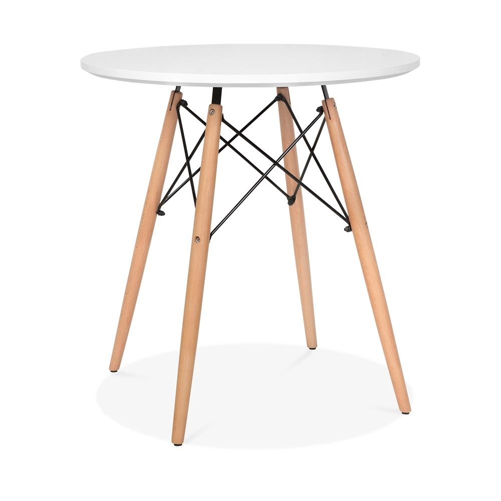 Eames dsw style 70cm white round table round dining for Table eames dsw