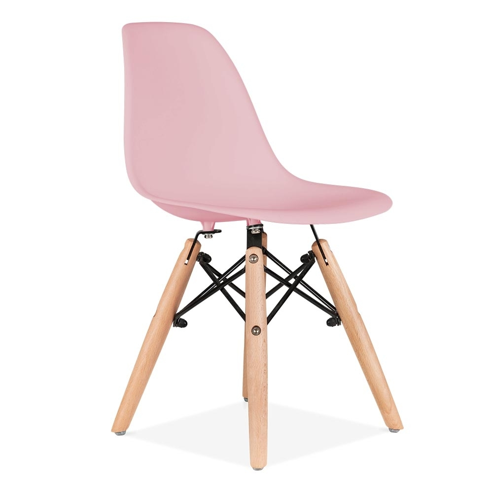 Cult living dsw kids pastel pink chair dining chairs for Chaise eames bleu canard