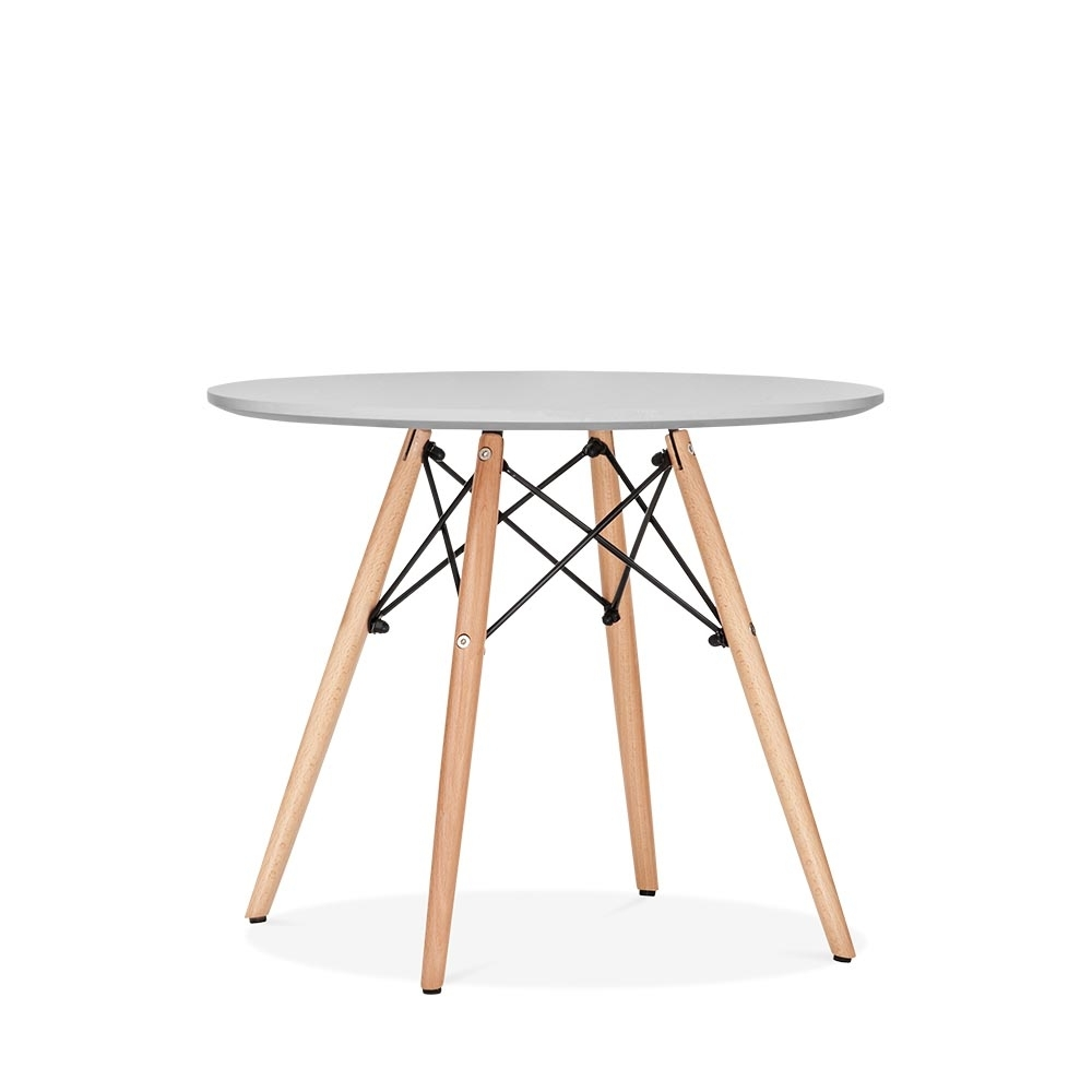 Kids Dining Table: Eames DSW Light Grey Kids Round Table