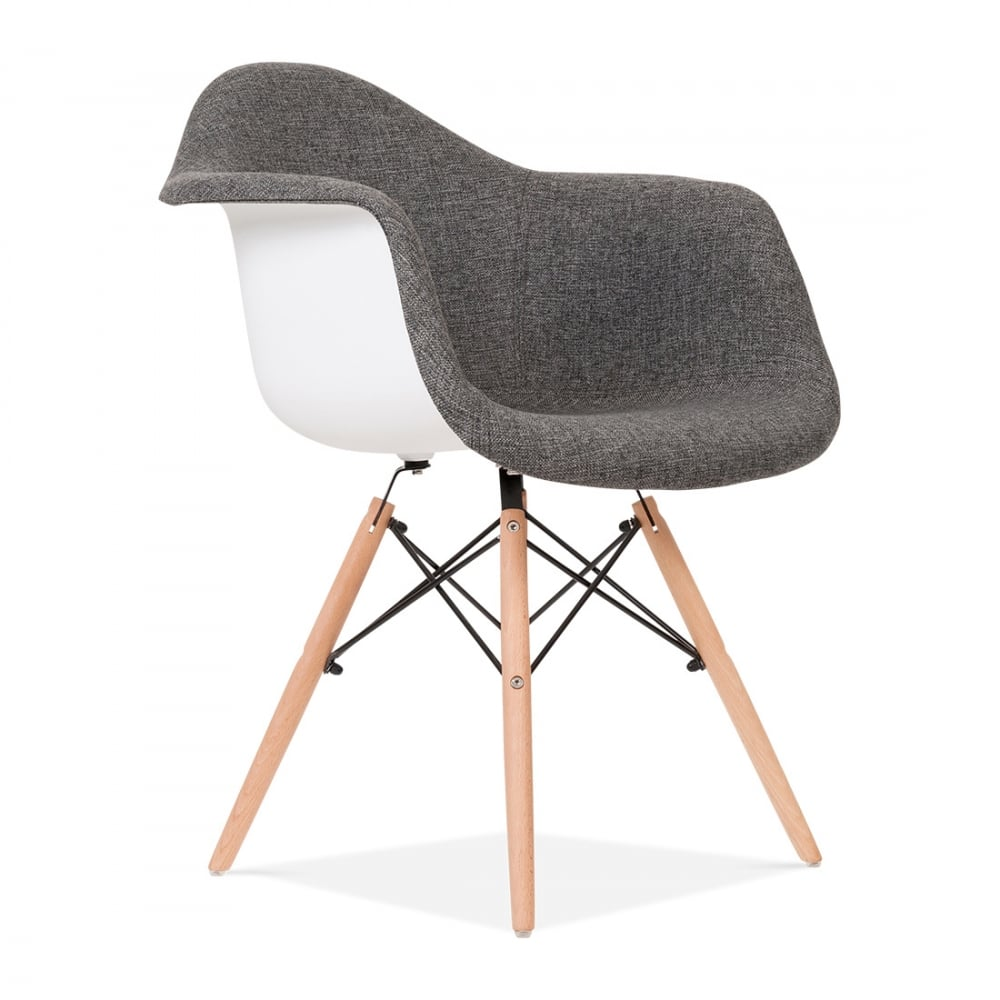 Upholstered grey daw style chair cult uk for Chaise design style eames
