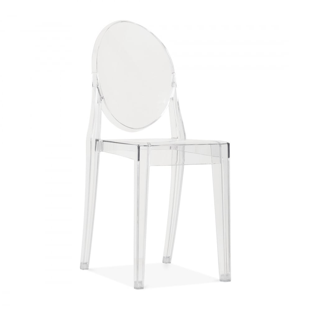 clear ghost style victoria chair dining chairs cult uk. Black Bedroom Furniture Sets. Home Design Ideas
