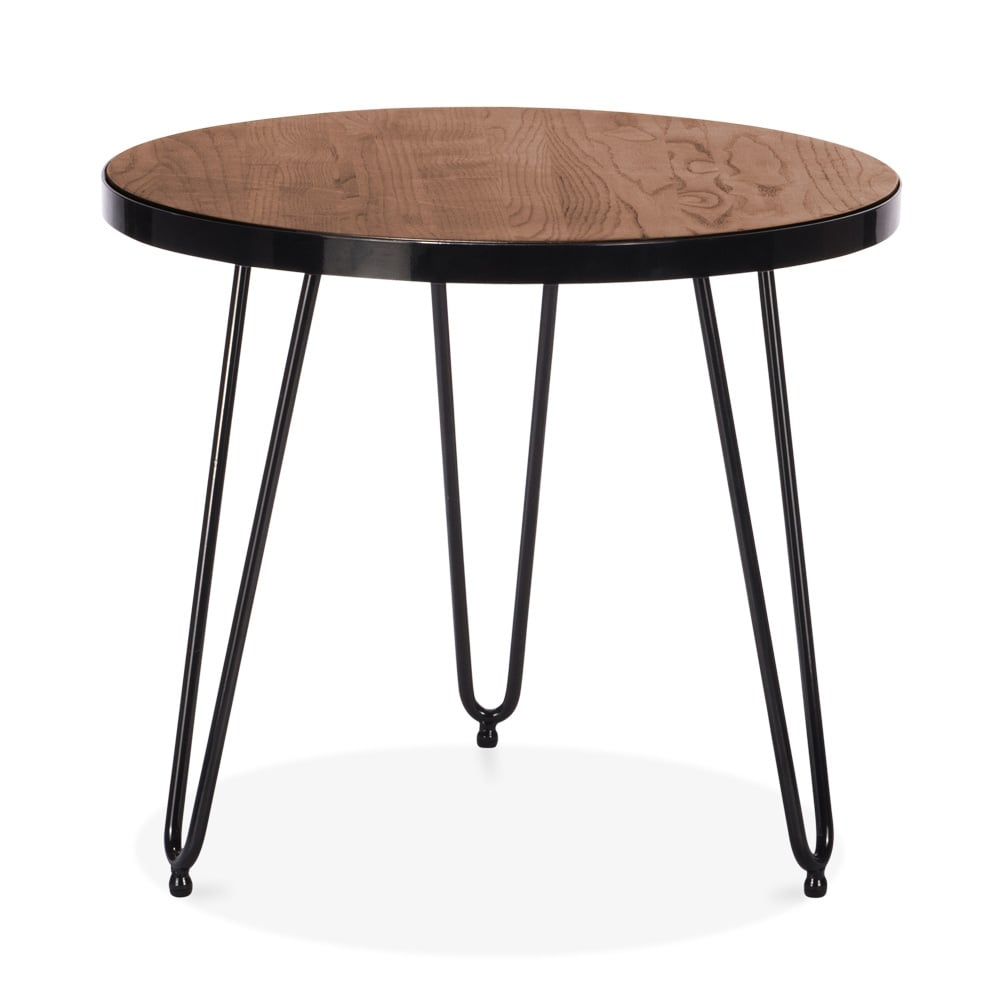 Cult living 61cm hairpin side table in walnut cult for Beistelltisch couch