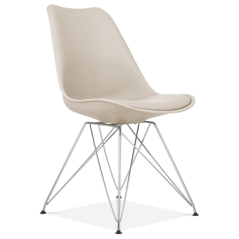 Eames Inspired Beige Dining Chair with Eiffel Metal Legs  : 1476718095 80727800 from www.cultfurniture.com size 1000 x 1000 jpeg 33kB