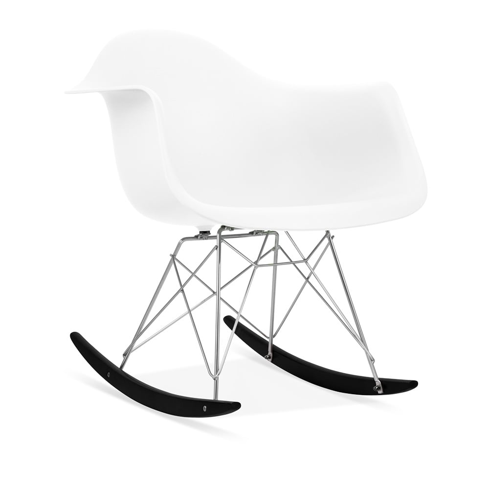 Charles eames style white rar rocker chair modern chairs cult uk - Stylish rocker recliner ...