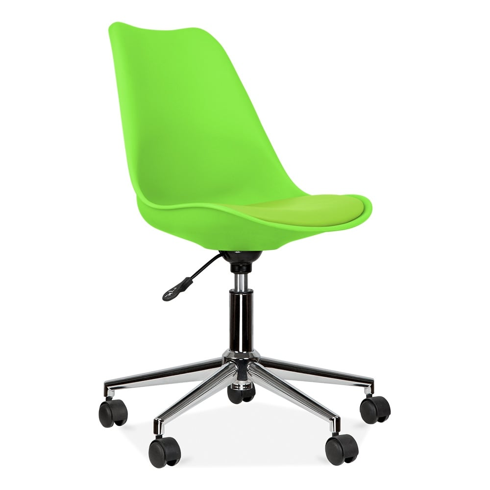 Eames Inspired Lime Green Office Chair With Castors | Cult UK
