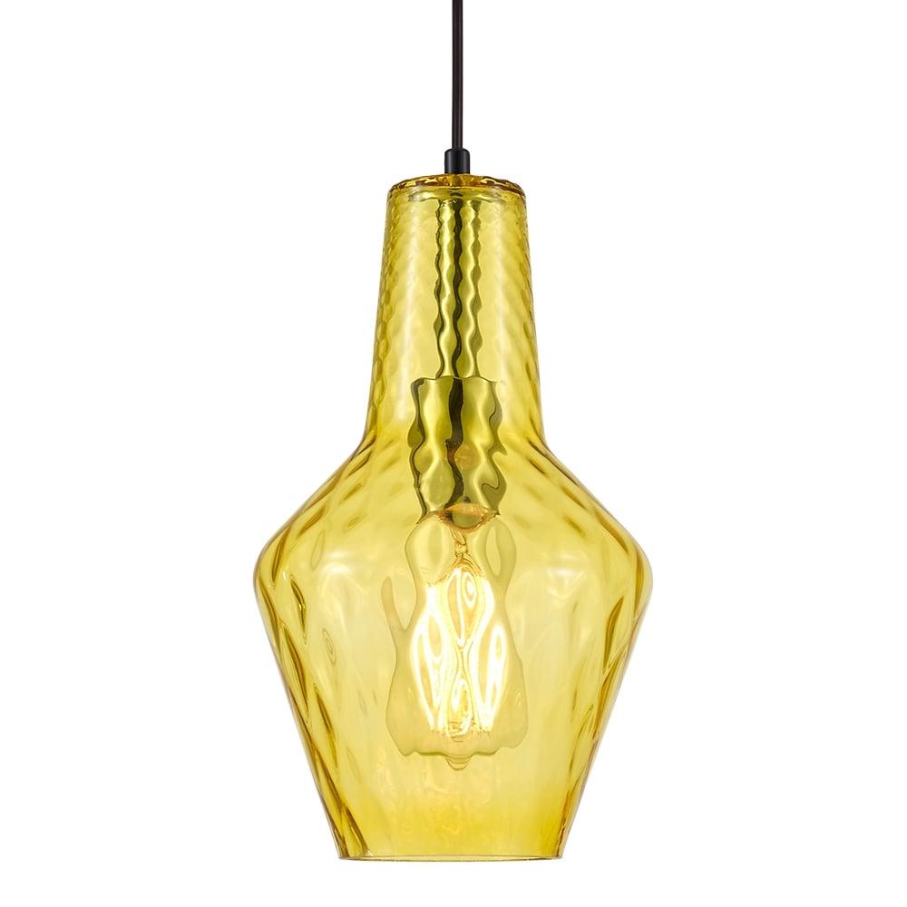 Yellow Glass Bardot Pendant Light