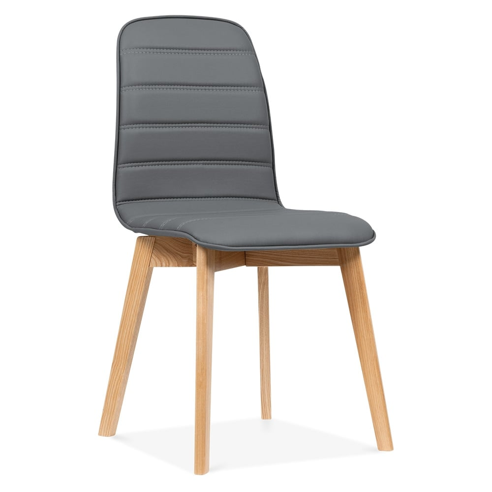 Amazoncom leather dining chairs grey Home amp Kitchen