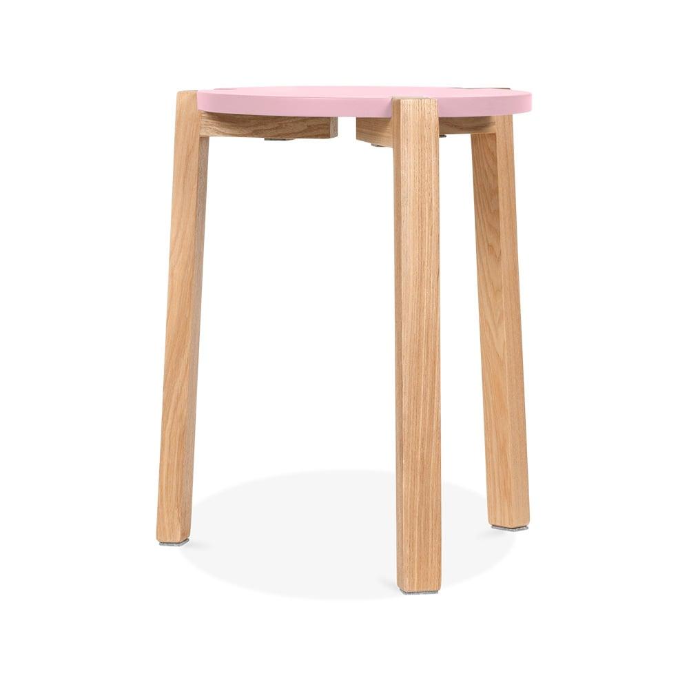 cult living pastel pink jepsen wooden stool cult furniture. Black Bedroom Furniture Sets. Home Design Ideas