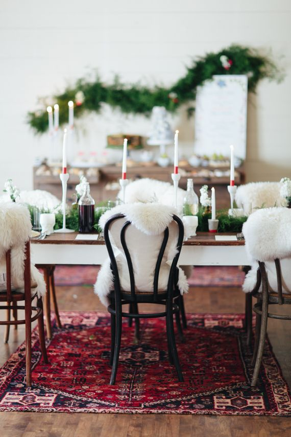 Sheepskin bentwood chairs