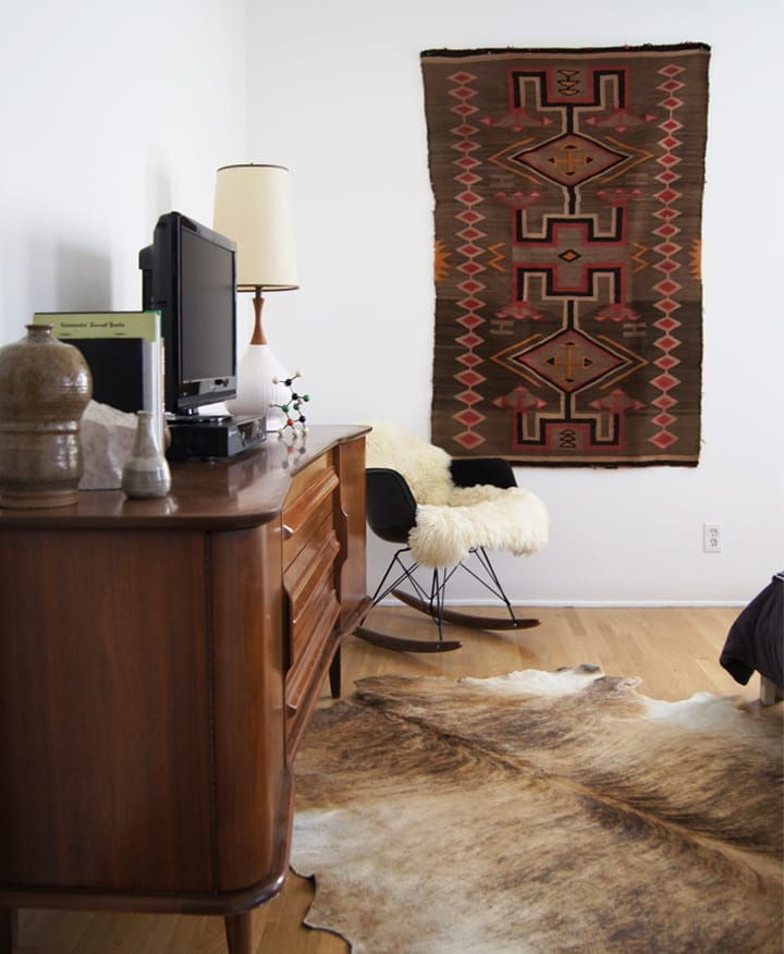 The Brick House Eames chair Sheepskin throw