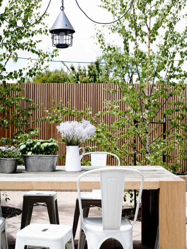 Summer Outdoors Spaces With Tolix, Tolix Outdoor Chair