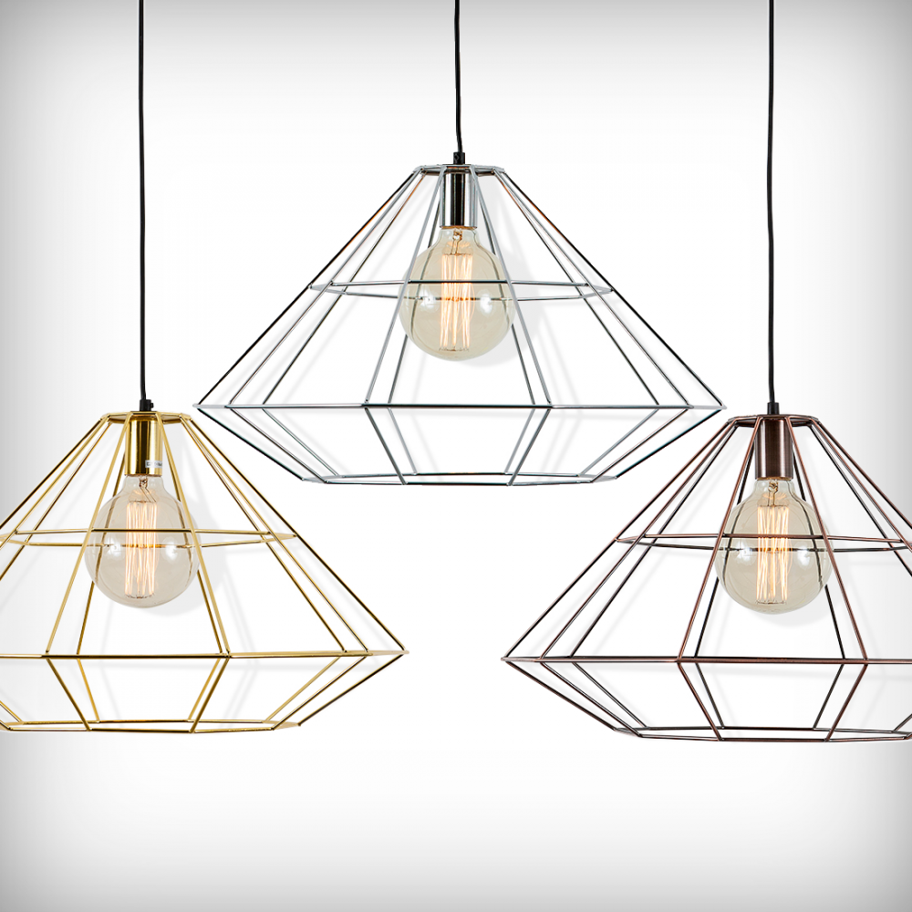 metallic cage lamps