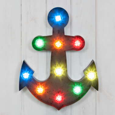 "19"" Multi-Coloured Rustic Turbo Light - Anchor"